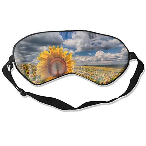 Sleep mask & Blindfold,Cute Sleep mask,Eye mask for Sleeping, Funny Sleep mask,Shut up mask, Silk Sleep Mask for A Full Night's Sleep,Sleep mask for Women (Sunflower)