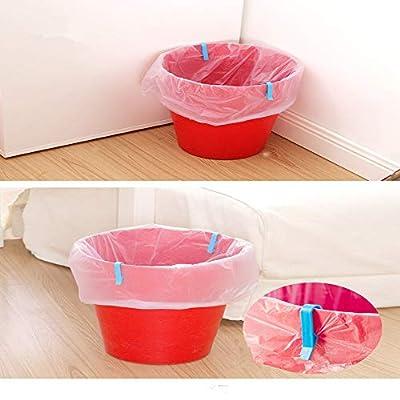Lucyzkd Garbage Bin Clip, 10PCS Trash Can Waste Basket Garbage Bin Clamp, Garbage Rubbish Bag Clip,Anti-Slip Fixation Clip Holder.: Home & Kitchen