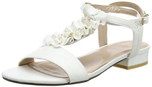 Evans Women's Gia T-Bar Sandals White (White) ejK2AJ