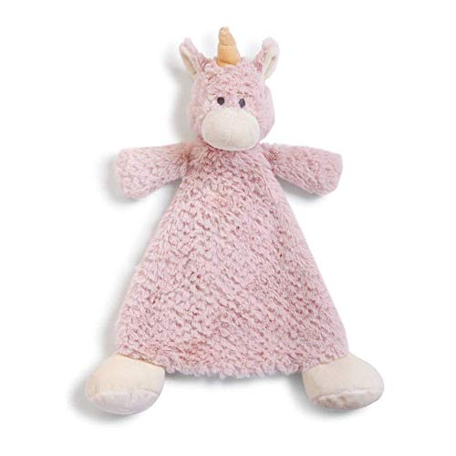Wendy Unicorn Rose Pink Children's Plush Rattle Blankie