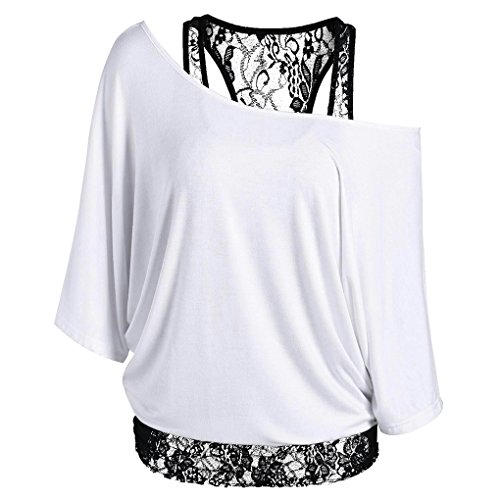 paule Off T Top blanc Col Shirt Girl Batwing Casual Femmes Summer Masterein Oblique gZxn6q04w