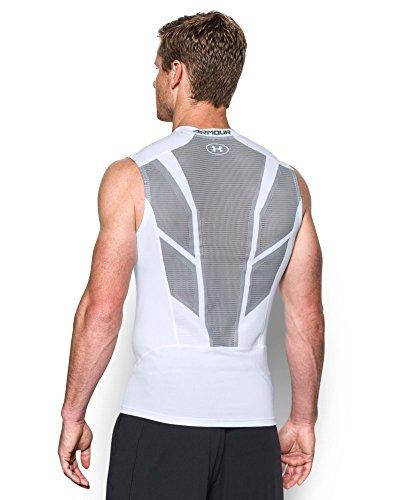 Under Heatgear Armour Tee Sleeveless - Under Armour Men's HeatGear Armour CoolSwitch Supervent Sleeveless Shirt, White (100), Large