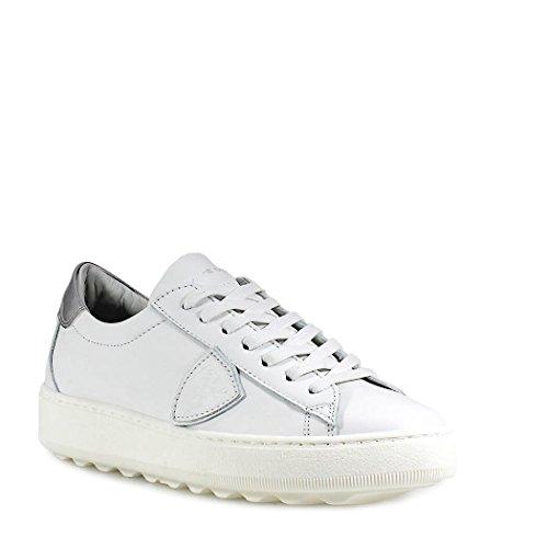 Philippe Model Scarpe da Donna Sneaker Madeleine Bianco Argento Primavera Estate 2018
