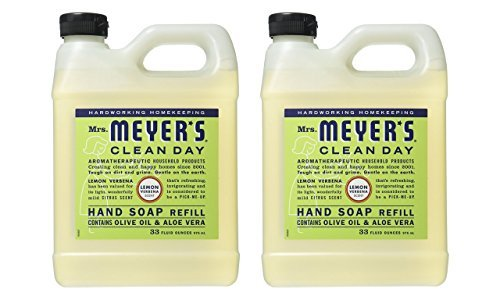Mrs. Meyers Mrs. Meyers Liquid Hand Soap Refill, 33 Fl Oz, Lemon Verbena Scent, Pack Of 2