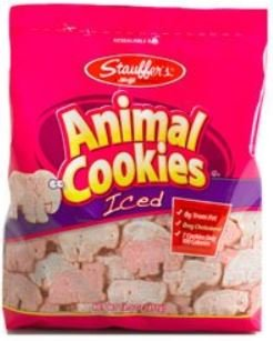 Stauffer's, Iced Animal Crackers, 11oz Bag (Pack of (Soft Sugar Cookies For Halloween)