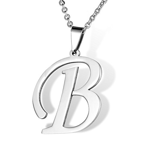 HOUSWEETY Stainless Initial Letters Necklace