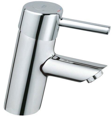 Grohe 34 271 000 Concetto Centerset Lavatory Less Drain, StarLight Chrome 000 Chrome Centerset Faucet