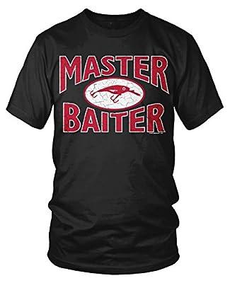 Amdesco Men's Master Baiter, Awesome Funny Cheap Fishing T-Shirt