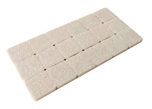 Okayji Self Adhesive Felt Material Pads for Furniture Floor Scratch Protection,18 Pieces (Square Shape)
