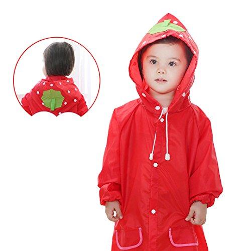 UPC 732330224510, Naimo Children Cute Portable Poncho Raincoat Translucent Raincoat (Strawberry)