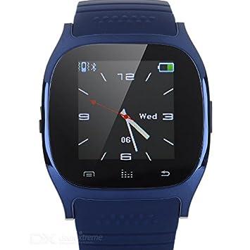 M26 - SmartWatch color azul con pantalla táctil, Bluetooth ...