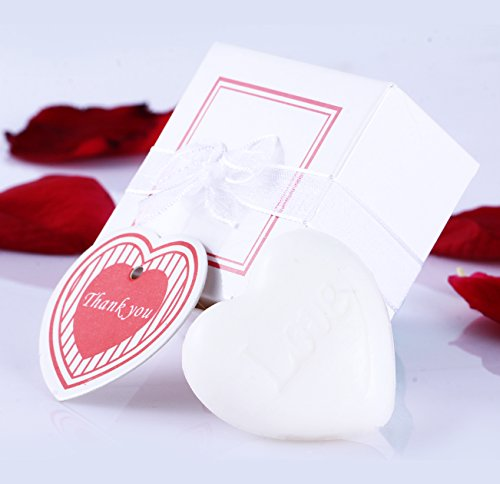 Heart Soap Set Handmade Soap for Wedding Gift Soap or Baby Shower Party Favors White Heart Style Soap12 pcs