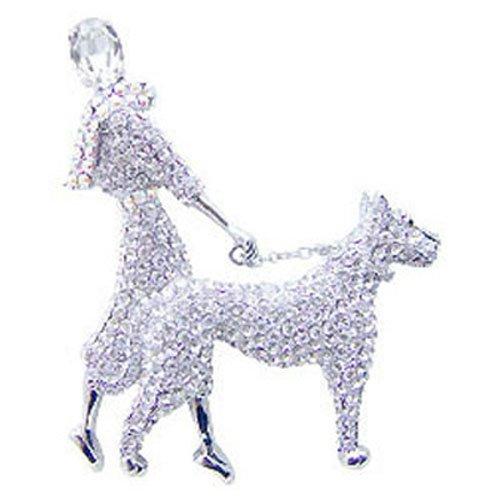 Butler et Wilson pour chien Grand Cristal Lady et broche