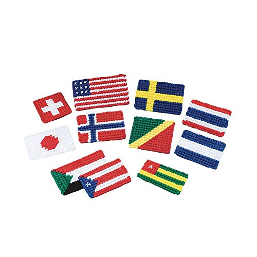 (S&S Worldwide Allen Diagnostic Module Needlepoint Flag Magnets (pack of)