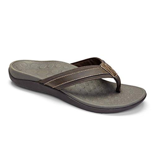Vionic Mens Tide Sandal Brown Size 10 Canvas Lined Sandals