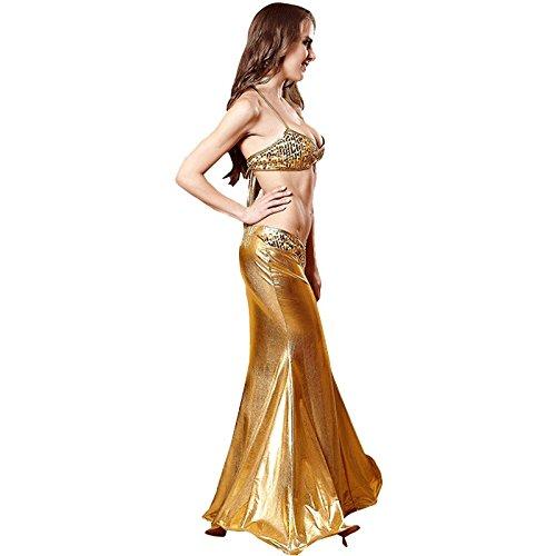 FLH Sirena Halloween Temptation Set Cosplay Disfraces Juego Uniformes erogeno ( Color : Oro , Tamaño : L ) Oro