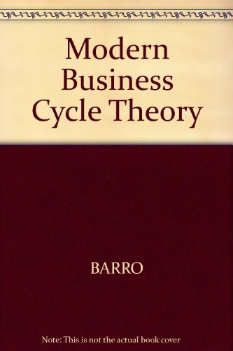 modern business cycle theory 感想 robert j barro 読書メーター