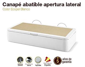 Canapé Abatible Apertura Lateral Tapizado Ecopel Blanco Gran Capacidad 105x180cm Envio y montaje gratis: Amazon.es: Hogar