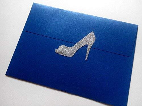 30 glitter high heels stickers//bachelorette party stickers//wedding invitation seals
