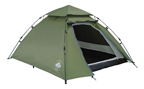 Lumaland Outdoor Pop Up Kuppelzelt Wurfzelt 3 Personen Zelt Sekundenzelt Camping Reise Trekking Festival etc. 215 x 195…