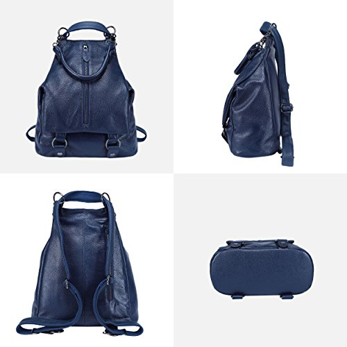 Bag Women BOYATU Royal Blue Rucksack Genuine Leather Fashion Travel for Backpack Purse XqT0F6wq