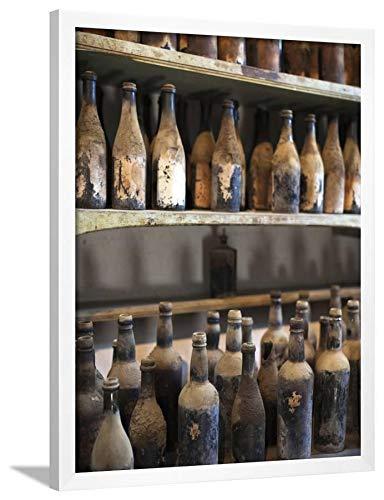 ArtEdge Antique Sherry Jars, Bodegas Gonzalez Byass, Jerez De La Frontera, Spain by Walter Bibikow, White Wall Art Framed Print, 32 x 24'