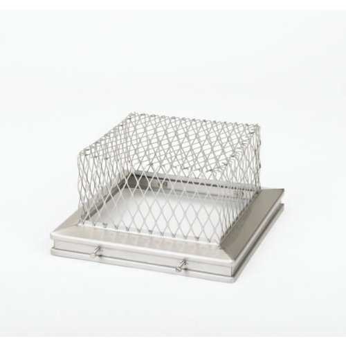 Gelco 13200 8 Inch x 8 Inch Gelco Stainless Steel Animal Guard 18-ga. 5.5 Inc...