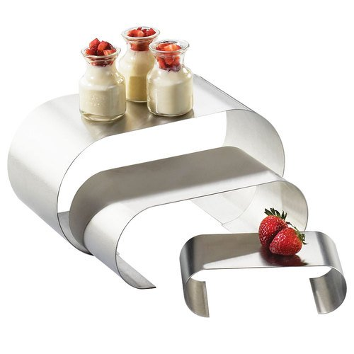 12.118W x 6D x 6H Small Curl Risers Large Stainless Steel 1 Ct
