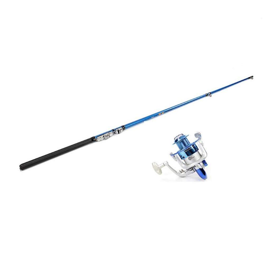 WDS Surf Fishing Rods Rotary Fishing Rod Combination 99% Carbon Telescopic Retractable Mini Ultra Light 1.5m, 1.8m, 2.1m (Size : 1.8m)