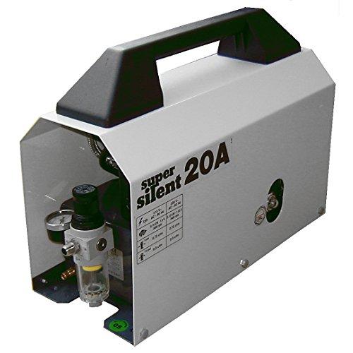 Silentaire Super Silent 20-a Whisper Quiet Airbrush Compressor 1/5hp 0.7 Cfm 55-85psi Low Noise Level - Silentaire Airbrush Compressor