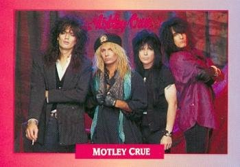 Motley Crue trading card (Dr Feelgood) 1991 Brockum Rock Music #239 Nikki Sixx Tommy Lee Vince Neil Mick Mars from Autograph Warehouse