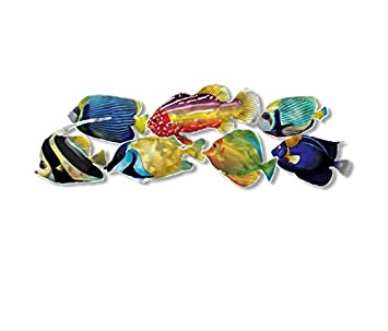 Lovely Tropical Fish II Metal Wall Art   42W X 14H In. Part 26