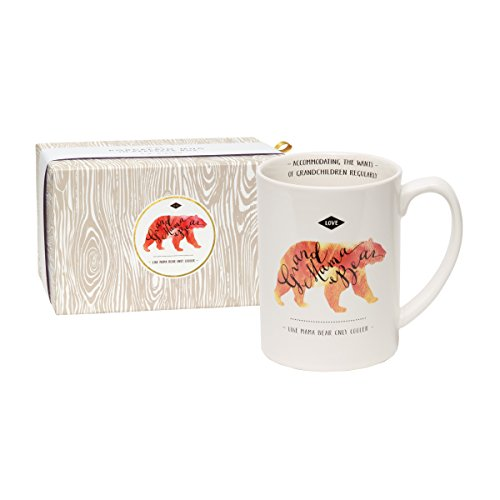 C.R. Gibson 16 oz Porcelain Coffee Mug, Gift Boxed, Dishwasher & Microwave Safe, Measures 5