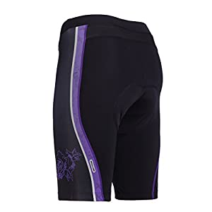 beroy Cycling Shorts For Women With 3D Gel Pad, Breathable Bike Shorts With Rear Mesh Panel(PF,S)