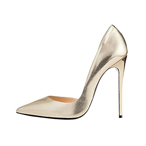 2b872975d1dc89 Guoar Women s Stiletto Heels Sandals Big Size Solid Shoes Pointed Toe  D Orsay Two-Piece