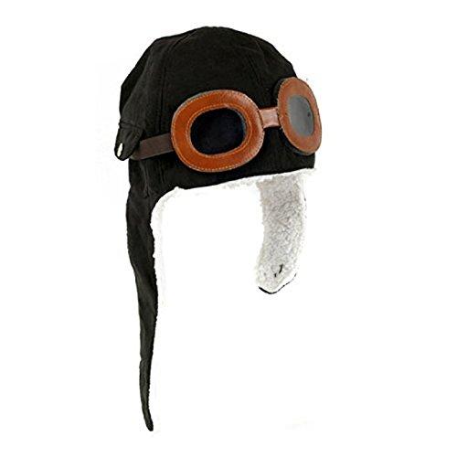 Costume Aviator Jacket (Dukars Pilot Aviator Hat Funy Party Hats Costume Accessory for Kids (Black))