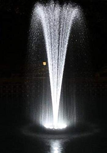 Ocean Mist Small Floating Fountain 48 White LED Lights 600GPH Submersible Pump Ponds, WaterGardens Swimming Pools by Ocean Mist (Image #6)