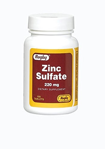 ZINC SULFATE 220MG TAB ZINC SULFATE (HEPTAHYDRATE)-220 MG white 100 TABLETS UPC 005362450012 ()