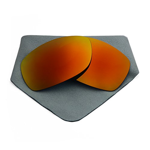 Polarized Lenses Replacement for Oakley Sideways Fire Red - Sunglasses Sideways