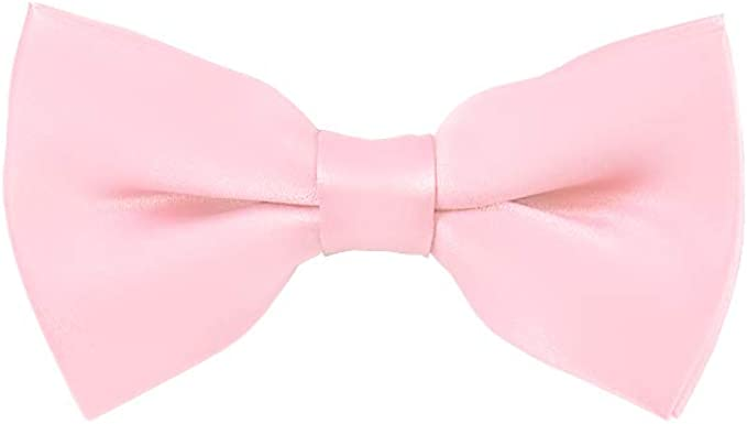 Solid Dusty Pink Mens Pre-Tied Bow Tie