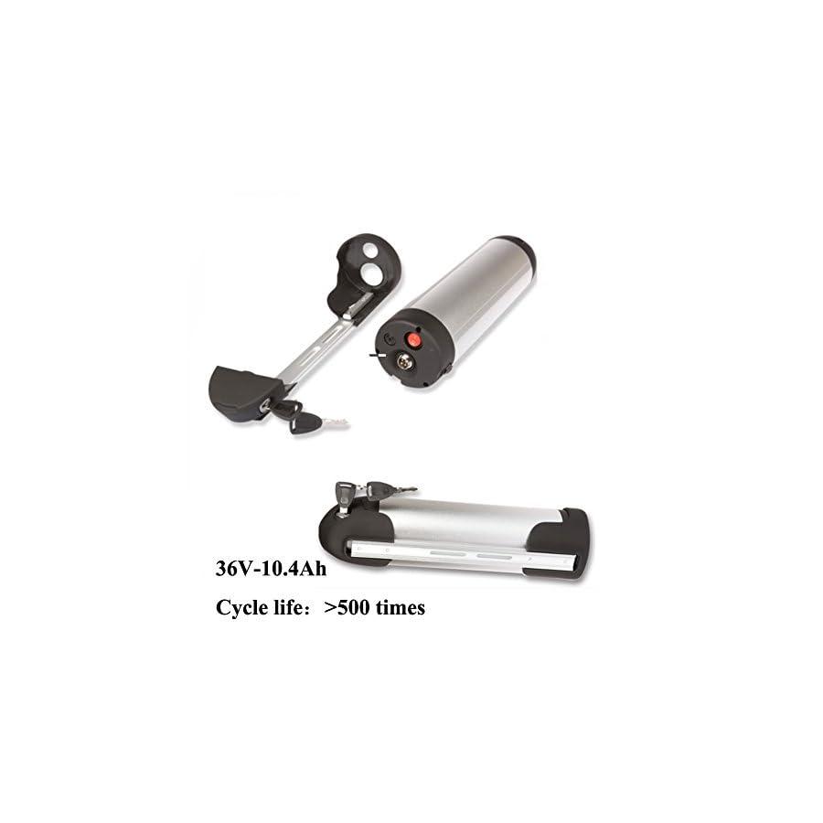 Sunbond 36V 10.4AH Li ion 250w 500w Electric Bicycle Bike Battery Water Bottle Type LG18650