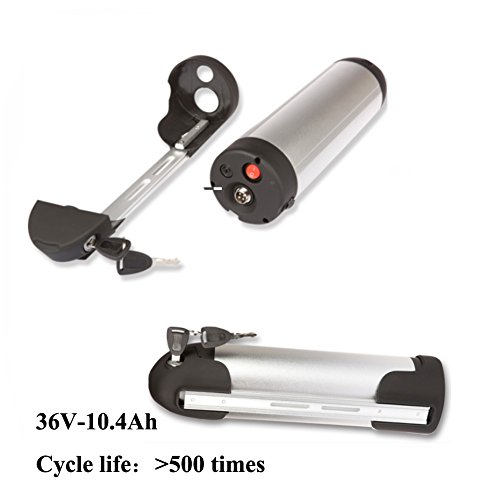 36V 10.4AH Li ion 250w 500w Electric Bicycle bike Battery Water Bottle type with LG18650 by Sunbond
