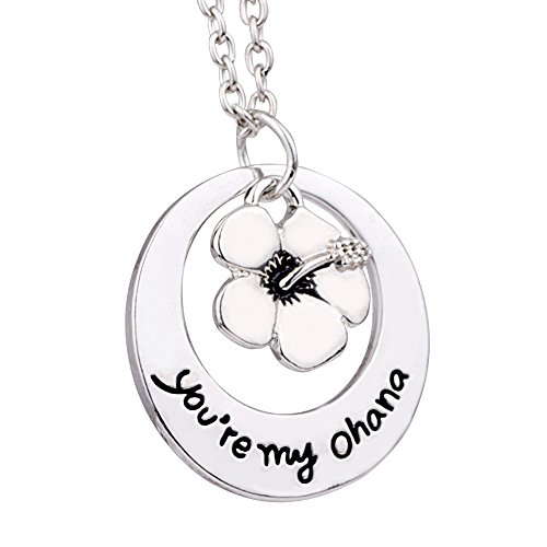 MA&SN Family BBF Best Friends Necklace You are My Ohana Flower Pendant Gift (Style A)