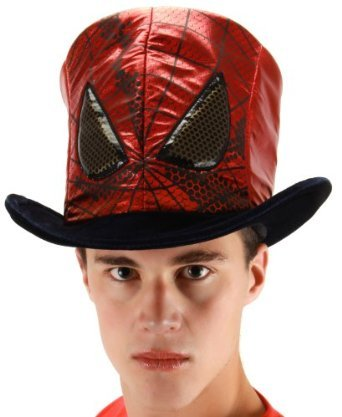 elope Marvel Men's Spider-Man Movie Novelty Hat, Red, One Size (Spiderman Costume Teen)