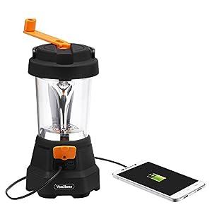 VonHaus 4-in-1 Camping Lantern & Flashlight - USB Charging Port, LED Flashlight, Lantern & Emergency SOS - Rechargeable & Wind Up Dynamo Lantern