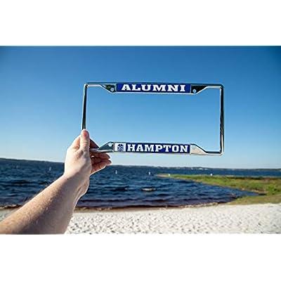 Desert Cactus Hampton University HBCU Virginia Pirates NCAA Metal License Plate Frame for Front Back of Car Officially Licensed (Alumni): Automotive