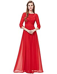 Red long occasion dress