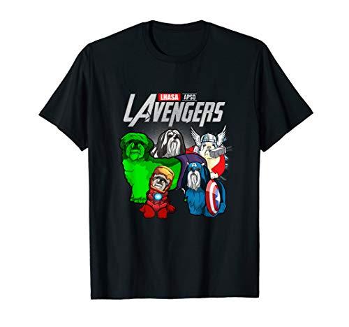 Funny Lhasa Apso Dog Lover Gift Lavengers For Fans Women Men T-Shirt