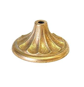 Tapa pie acabado bronce 100mm diámetro para lámparas ...