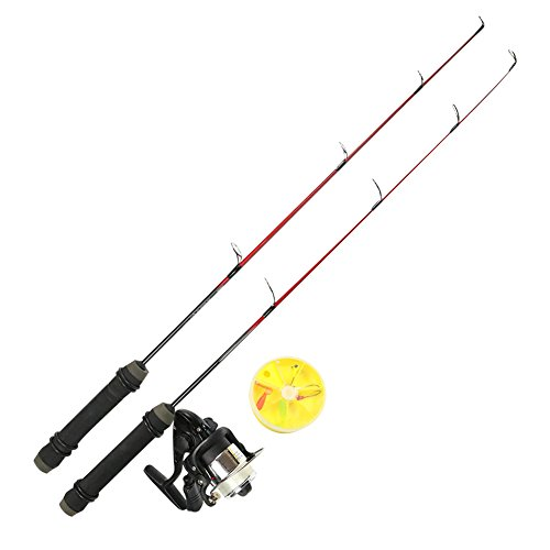 USDOX Ice Fishing Rods and Reel Combo with Ice Lure,Light & Middle(24 Inches) (Rod Ugly Stick Blanks)